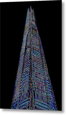 The Shard London Art Metal Print