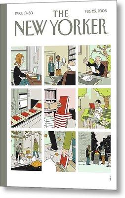 New Yorker February 25th, 2008 Metal Print