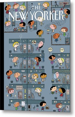 New Yorker March 2nd, 2009 Metal Print by Ivan Brunetti