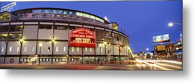 Usa, Illinois, Chicago, Cubs, Baseball Metal Print by Panoramic Images