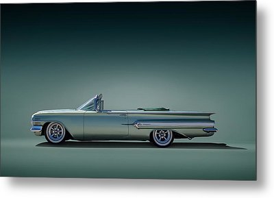 60 Impala Convertible Metal Print by Douglas Pittman