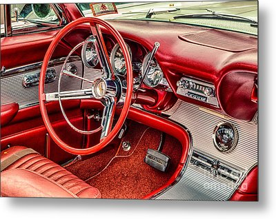 62 Thunderbird Interior Metal Print