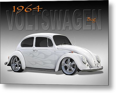 64 Volkswagen Beetle Metal Print by Mike McGlothlen
