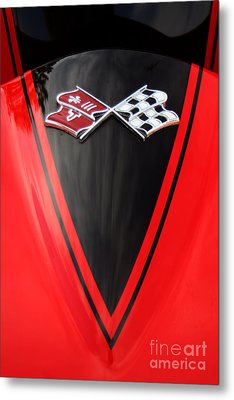 65 Sting Ray-torch Red-hood-8785 Metal Print by Gary Gingrich Galleries