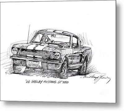 66 Shelby 350 Gt Metal Print by David Lloyd Glover
