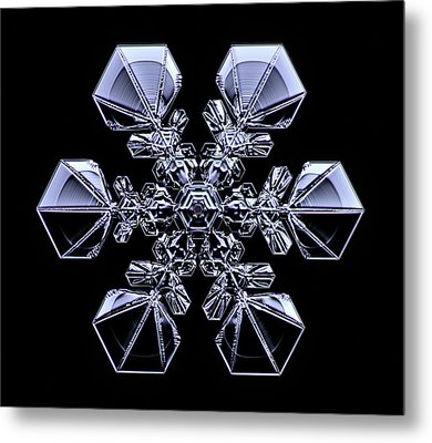 Snowflake Metal Print by Kenneth Libbrecht