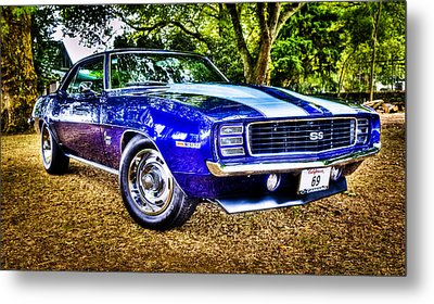 69 Chevrolet Camaro - Hdr Metal Print by motography aka Phil Clark