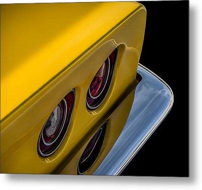 '69 Corvette Tail Lights Metal Print by Douglas Pittman