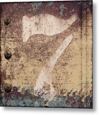 7 And Rivets Metal Print by Carol Leigh