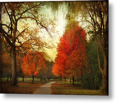 Metal Print featuring the photograph Autumn Promenade by Jessica Jenney