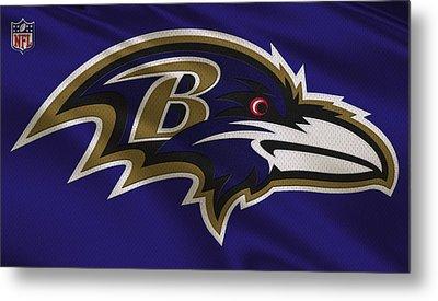 Baltimore Ravens Uniform Metal Print