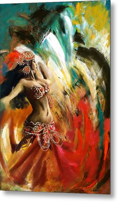Abstract Belly Dancer 19 Metal Print by Corporate Art Task Force