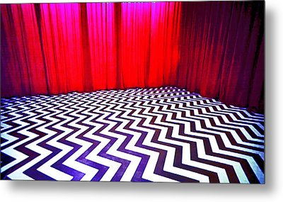 Metal Print featuring the painting Black Lodge by Luis Ludzska