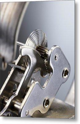 Bourdon Pressure Gauge Metal Print by Science Photo Library