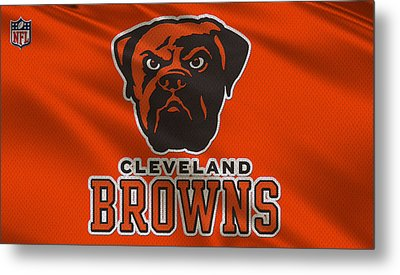 Cleveland Browns Uniform Metal Print by Joe Hamilton