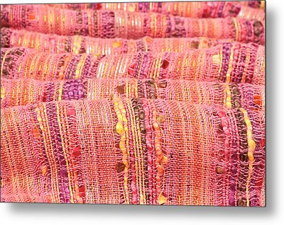 Colorful Cloth Metal Print by Tom Gowanlock