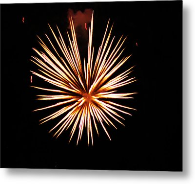 Fire Works On The Fourth Of July Metal Print by Larry Stolle