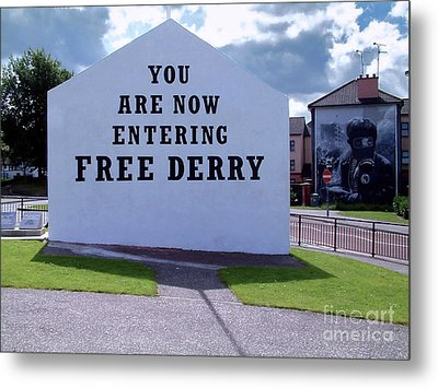 Free Derry Corner Metal Print