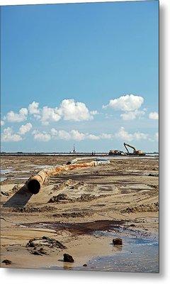 Louisiana Wetlands Restoration Project Metal Print by Jim West