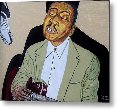 Metal Print featuring the painting Mannish Boy. Muddy Waters. by Ken Zabel
