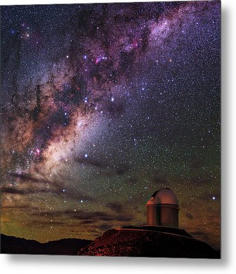 Milky Way Over La Silla Observatory Metal Print by Babak Tafreshi