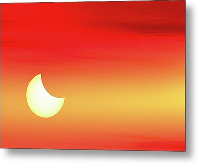 Partial Solar Eclipse Metal Print