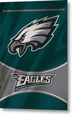 Philadelphia Eagles Uniform Metal Print by Joe Hamilton