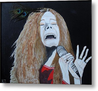 Metal Print featuring the painting Piece Of My Heart. Janis. by Ken Zabel