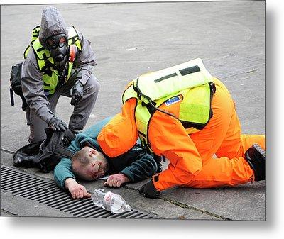 Radiation Emergency Response Training Metal Print