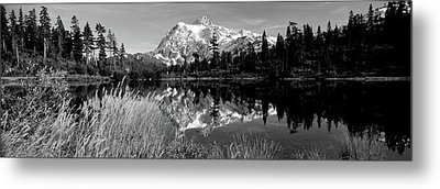 Reflection Of Mountains In A Lake, Mt Metal Print by Panoramic Images