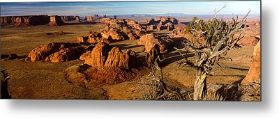 Rock Formations On A Landscape Metal Print by Panoramic Images