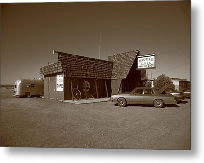Route 66 - Bagdad Cafe Metal Print by Frank Romeo