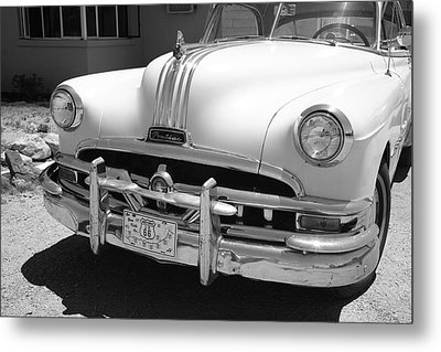 Route 66 - Classic Car Metal Print by Frank Romeo