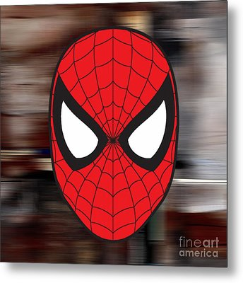 Spiderman Metal Print by Marvin Blaine