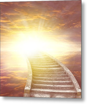 Stairway To Heaven Metal Print by Les Cunliffe