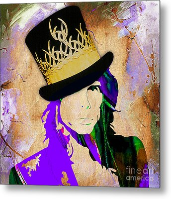 Steven Tyler Collection Metal Print by Marvin Blaine