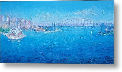 Sydney Harbour Bridge And The Opera House  Metal Print