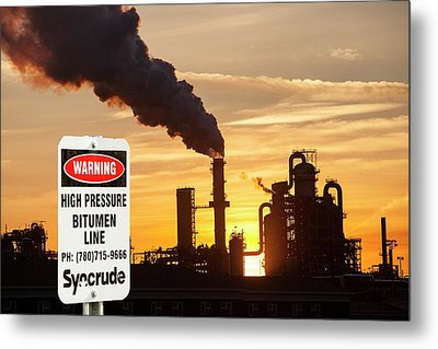 Syncrude Upgrader Plant Metal Print