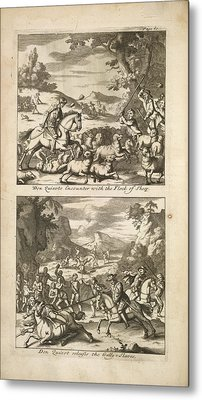 The History Of Don Quixote Metal Print by British Library