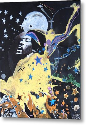 Metal Print featuring the painting Trippin' With Jimi. by Ken Zabel
