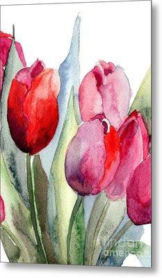 Tulips Flowers Metal Print