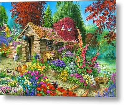 The Garden Shed Variant 1 Metal Print