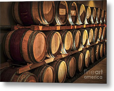 Wine Barrels Metal Print by Elena Elisseeva