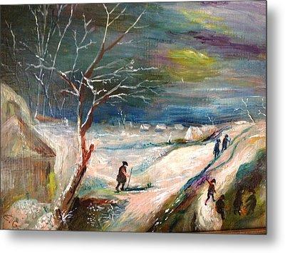 Winter Landscape Metal Print by Egidio Graziani