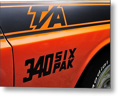 70 Dodge Challenger T-a Metal Print by Thomas Schoeller