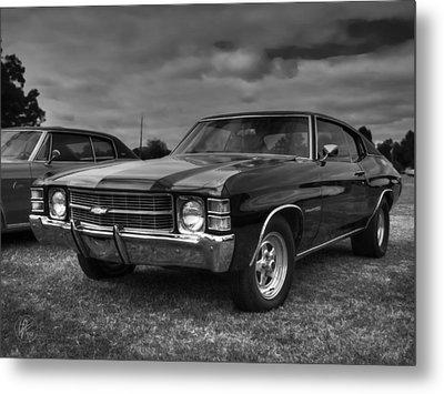 '71 Chevelle Malibu Bw Metal Print by Lance Vaughn