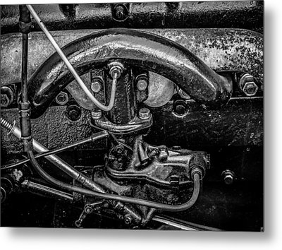 Ford Model A In Black And White Metal Print by Steve Knievel