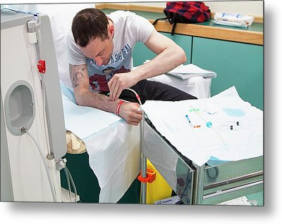 Shared Care Dialysis Unit Metal Print by Life In View