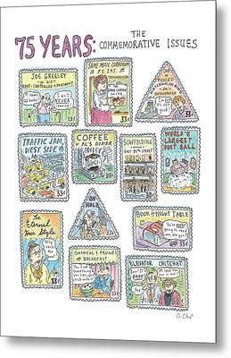 '75 Years:  The Commemorative Issues' Metal Print by Roz Chast