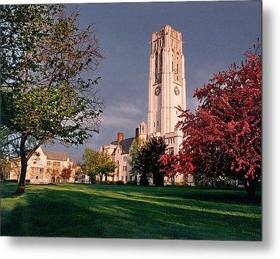 7535 University Of Toledo Bell Tower Metal Print by Chris Maher